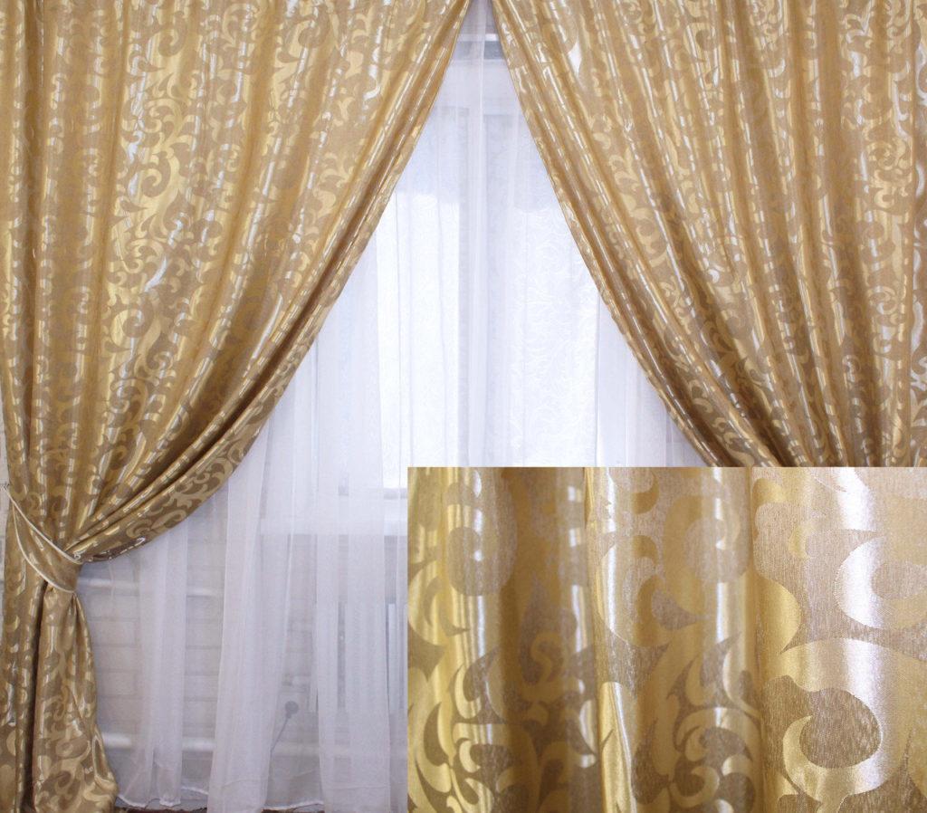 Жаккард шторы – французская классика