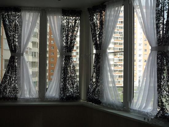 Занавески на балкон – быстрый пошив